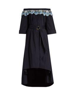 Peter Pilotto   Off-The-Shoulder Cotton-Blend Dress