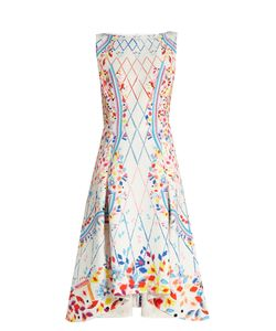 Peter Pilotto | Abstract-Print Boat-Neck Sleeveless Cady Dress