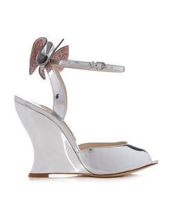 Sophia Webster | Rizzo Embellished-Bow Wedge Sandals