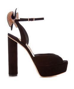Sophia Webster | Raye Embellished-Bow Suede Platform Sandals