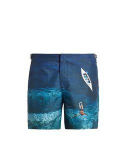 Orlebar Brown | Bulldog Photographic-Print Swim Shorts