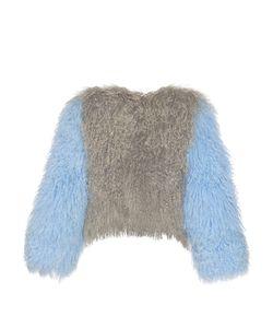CHARLOTTE SIMONE | Classic Fuzz Shearling Bomber Jacket