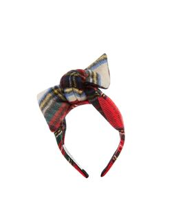 BENOÎT MISSOLIN   Camila Tartan-Bow Wool Headband