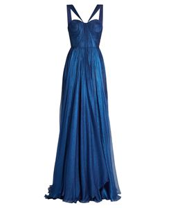 Maria Lucia Hohan | Akilah Silk-Mousseline Pleated Gown