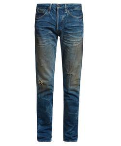 Kuro | Aulick Distressed Slim-Leg Jeans