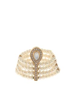 ANISSA KERMICHE | Diamond Mother-Of-Pearl Pearl Ring