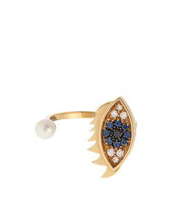 Delfina Delettrez | Diamond Sapphire Pearl Eye Ring