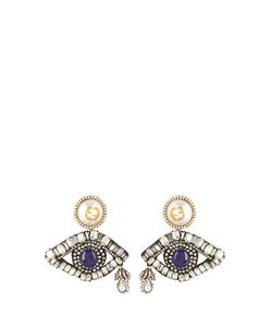Gucci | Crystal-Embellished Eye Drop Earrings