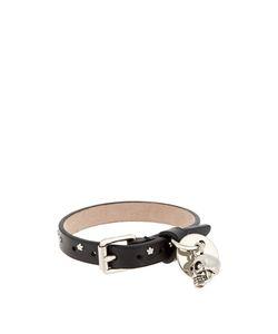 Alexander McQueen | Skull-Charm Star-Studded Leather Bracelet
