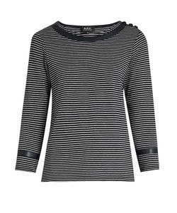 A.P.C. | Cobob Striped Cotton-Jersey T-Shirt