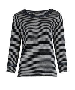 A.P.C. | Cobob Striped Cotton-Jersey T-Shirt