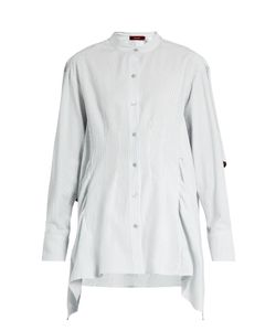 SIES MARJAN | Ruffled Cotton-Seersucker Shirt