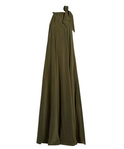 KALITA | Camille Reversible Silk-Crepe Maxi Dress