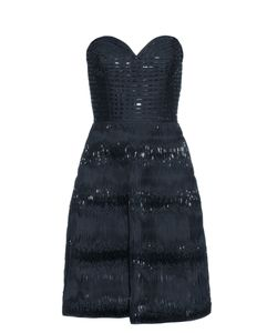 Oscar de la Renta | Embellished Ribbon Twirl-Silk Dress