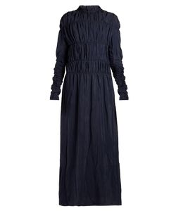 Marni | Smocked Long-Sleeved Maxi Dress