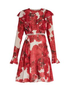 Giambattista Valli | -Print Ruffled Silk-Georgette Dress
