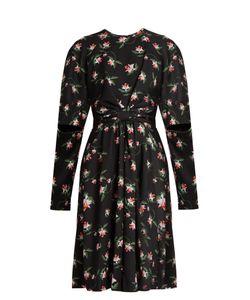 Preen By Thornton Bregazzi | Aaron Daffodil-Print Gathered Crepe Dress