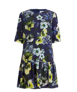 Erdem | Emmie Hasu Night-Print Silk-Crepe Dress