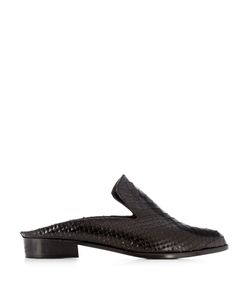 Robert Clergerie | Alice Snake-Effect Leather Slip-On Loafers
