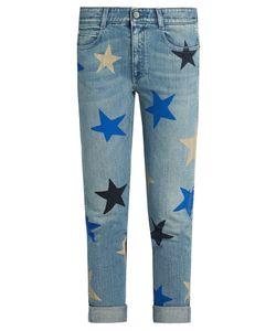 Stella Mccartney | Star-Print Low-Slung Skinny Jeans