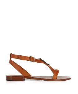 Saint Laurent | Serpent-Logo Leather Sandals