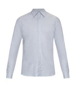 MATHIEU JEROME | Hidden Button-Down Collar Cotton Shirt