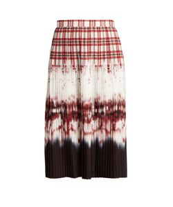 Altuzarra | Lucille Check-Dégradé Pleated Skirt