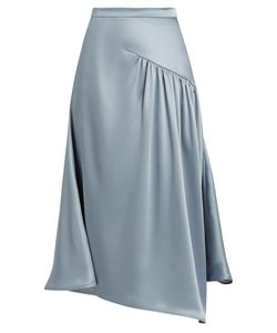 SIES MARJAN | Gathered Silk-Charmeuse Skirt