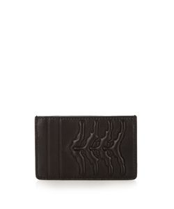 Alexander McQueen | Rib-Cage Embossed Leather Cardholder