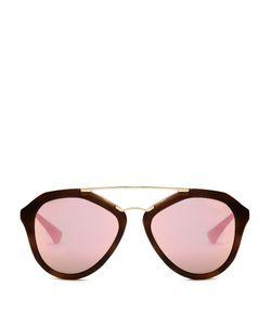 Prada Eyewear   Aviator Acetate Sunglasses