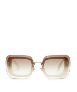 Miu Miu | Reveal Rectangle-Frame Sunglasses