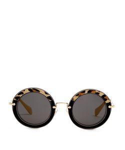 Miu Miu | Noir Round-Frame Sunglasses