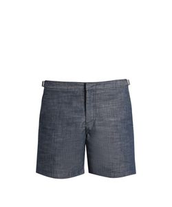 Orlebar Brown | Bulldog Mid-Length Chambray Swim Shorts