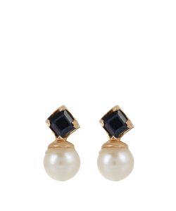 LOREN STEWART | Sapphire Pearl Yellowearrings