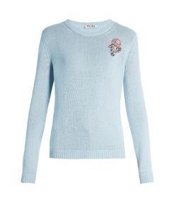 Miu Miu | -Embellished Cashmere Sweater