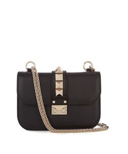 Valentino | Lock Small Leather Shoulder Bag