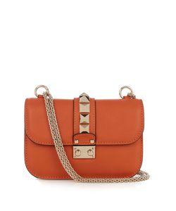 Valentino | Lock Small Leather Shoulder Bag