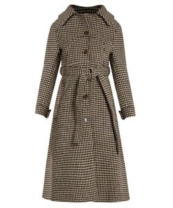 VETEMENTS | Hounds-Tooth Wool Trench Coat