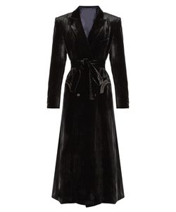 BLAZÉ MILANO | Great Etoile Herringbone-Embossed Velvet Coat