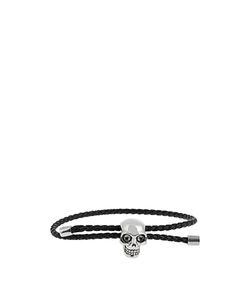 Alexander McQueen   Skull And Braided-Leather Bracelet