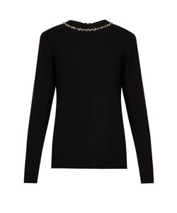 RAEY | Embellished Ric-Rac Zip-Back Cashmere Sweater