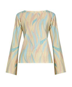 SIES MARJAN | Acid Wave Print Ribbed Cotton-Blend Top