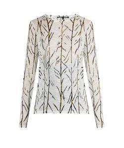 Proenza Schouler   Abstract Stem-Print Cotton-Jersey T-Shirt