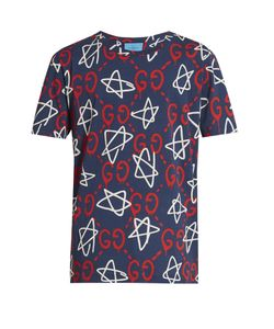 Gucci | Ghost-Print Crew-Neck T-Shirt