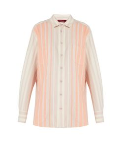 SIES MARJAN | Striped Brushed-Cotton Shirt