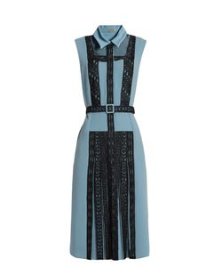 Bottega Veneta | Lace-Panel Crepe Dress
