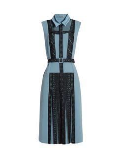 Bottega Veneta | Lace-Panel Crepe Dress