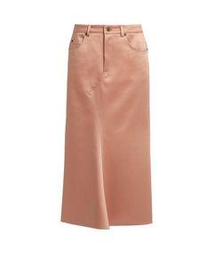 SIES MARJAN   Ghotus Flared Bonded-Satin Skirt