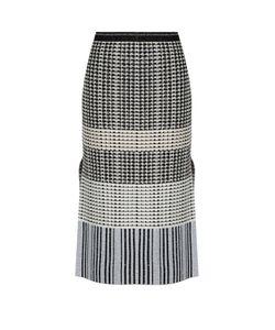 Proenza Schouler | Geometric-Knit Wool Skirt