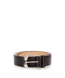 Alexander McQueen | Twin-Skull Leather Belt